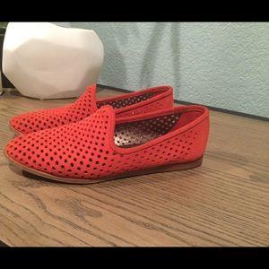 Pedro Garcia Yara Loafers 7.5M Red Suede
